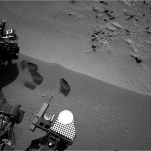 Curiosity Rover Takes a Bite of the Red Planet