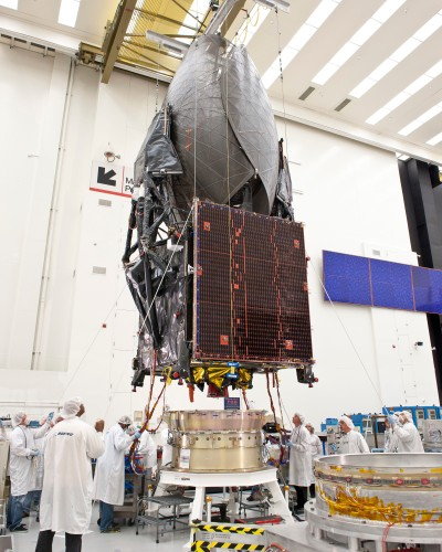 TDRS-K Undergoing Fit CheckCredit:  NASA Goddard