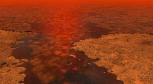 On Titan: Icebergs Really Could Be Dead Ahead