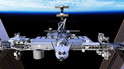 Dream Chaser at ISS Image Credit  : SNC