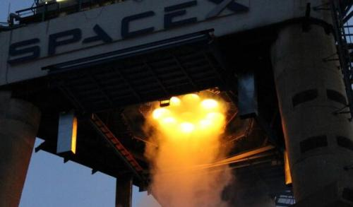 Falcon 9 R Test Ignition Credit : Elon Musk
