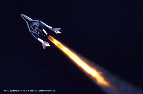 Up, Up and Away Credit :  Virgin Galactic
