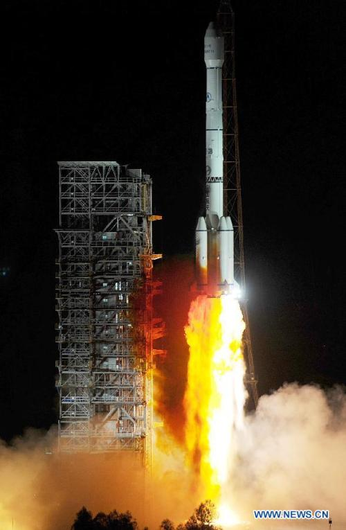 Liftoff of Long March 3-B Credti :   news.cn