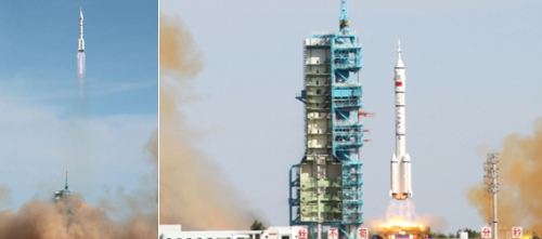Liftoff of Shenzhou-10 Credit :  Xinhuanet