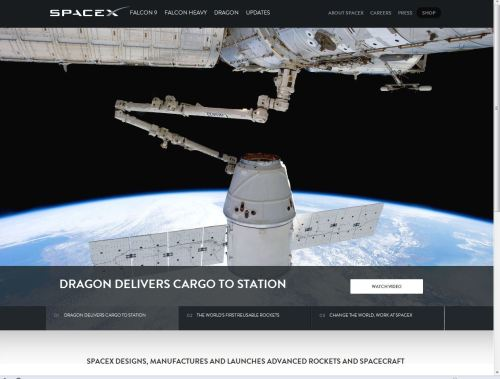 SpaceX Introduces Retooled Website Featuring Falcon 9 Reusability